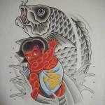 金太郎の抱き鯉