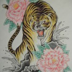 虎と牡丹(1)