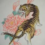 虎と牡丹(2)